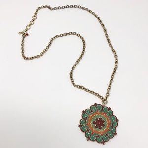 Lucky Brand   Boho Medallion Pendant Necklace